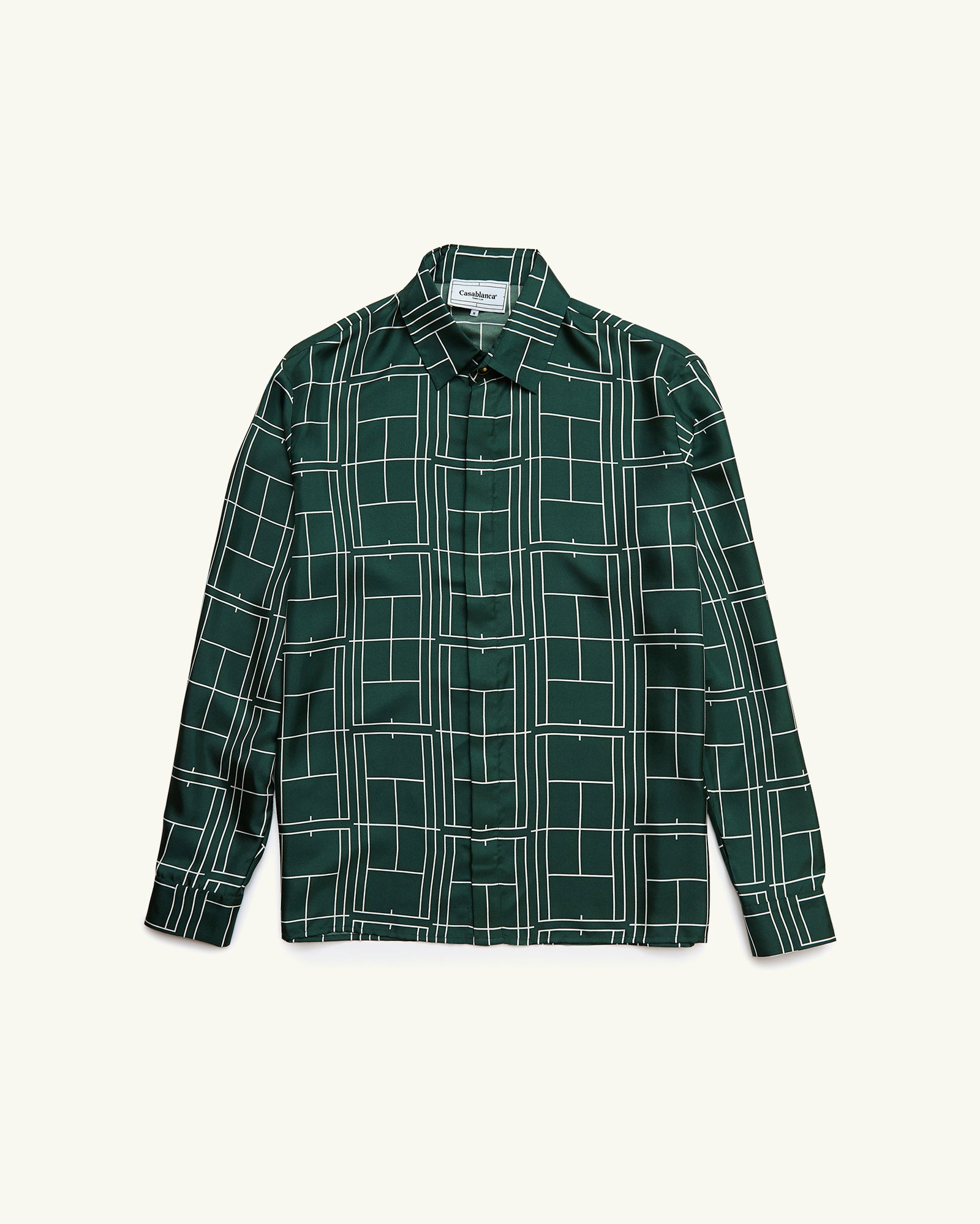 COURTS GREEN SILK SHIRT