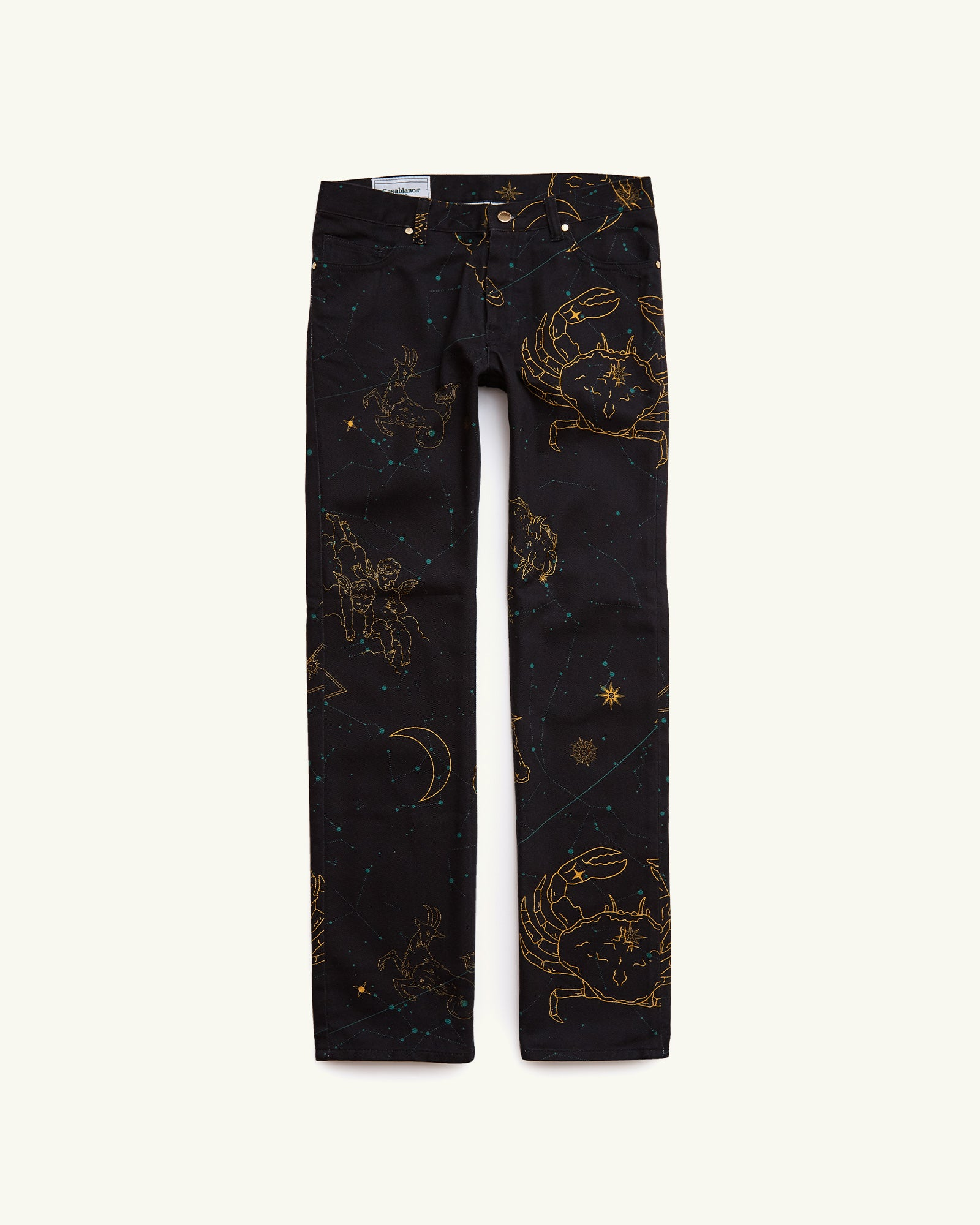 PRINTED DENIM JEANS CONSTELLATION NAVY