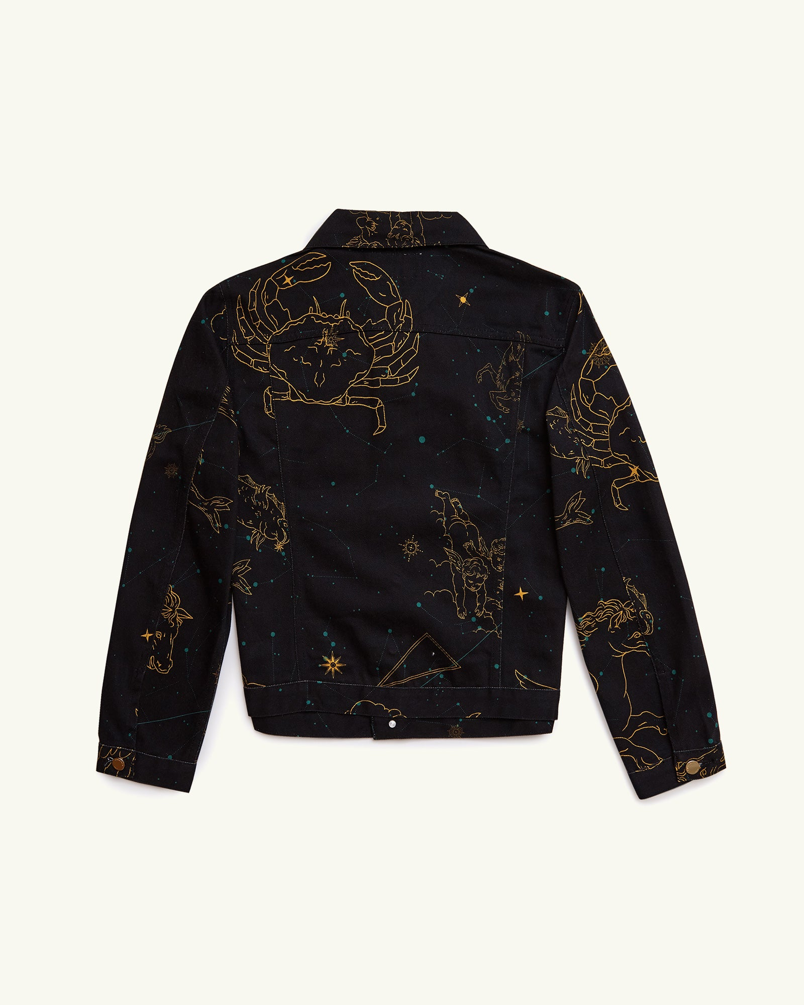 PRINTED DENIM JACKET CONSTELLATION NAVY