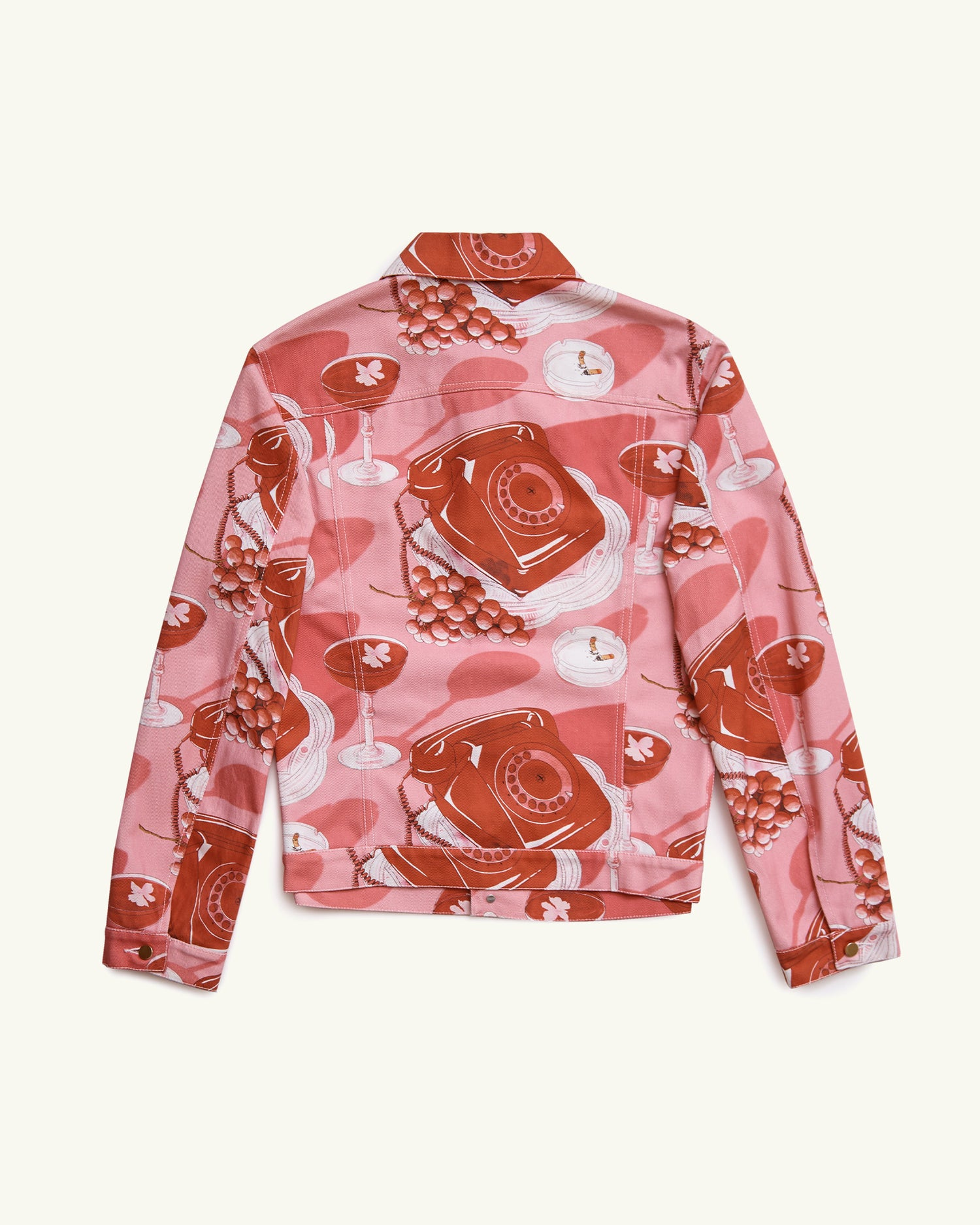 PRINTED DENIM JACKET LE PROTOCOLE PINK