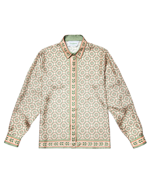 Light Laurel Monogram Silk Shirt
