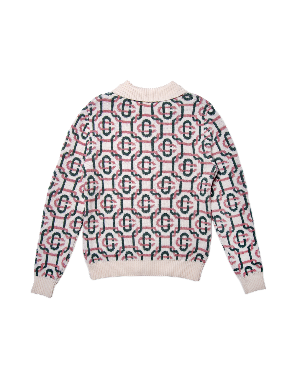 Monogram Zip-up Knitted Top