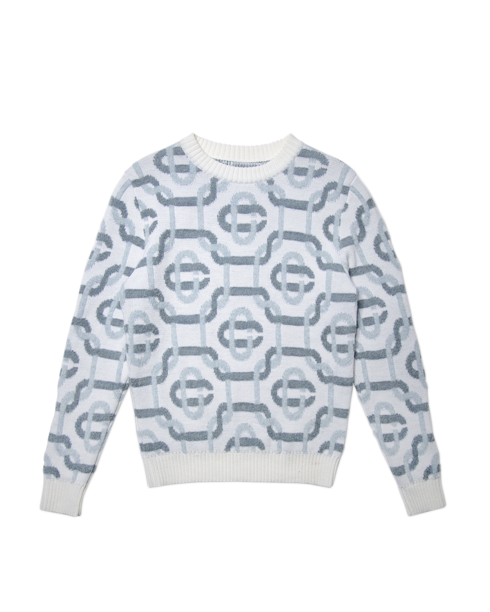 Grey Monogram Knitted Sweater