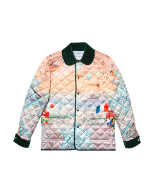 Casablanca Ski Club Sunset Quilted Coat