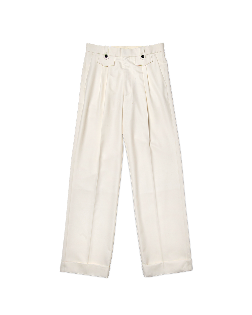 Off White Ticket Pocket Pleat Trouser