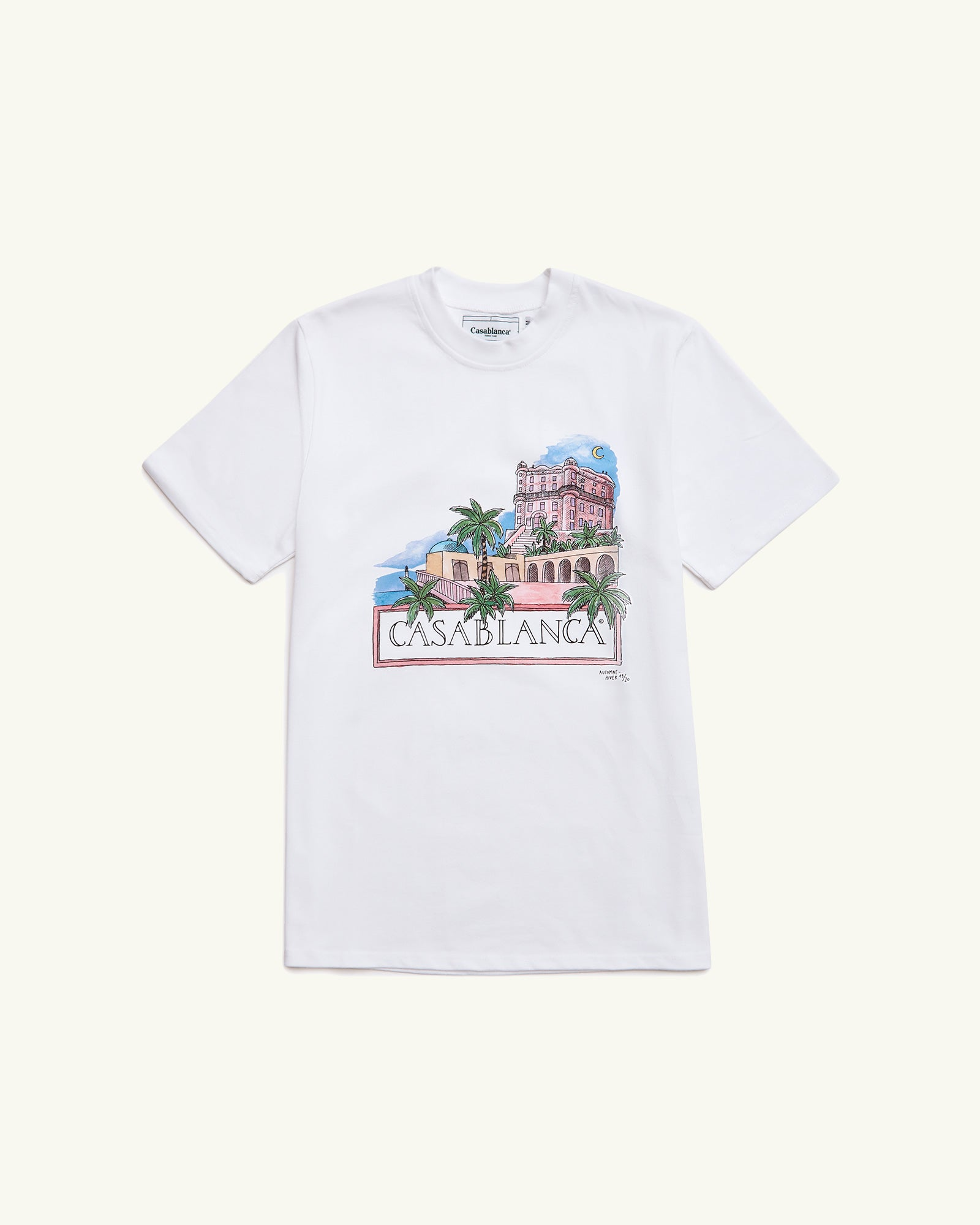 100% COTTON JERSEY TSHIRT PRINTED MAISON WHITE