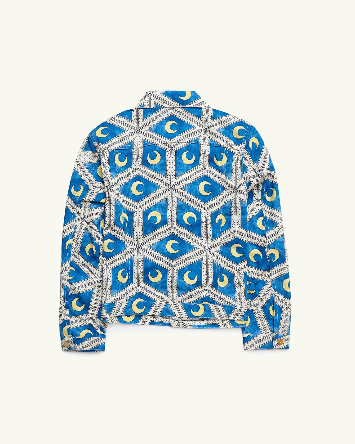 PRINTED DENIM JACKET MOONLIGHT TILES BLUE