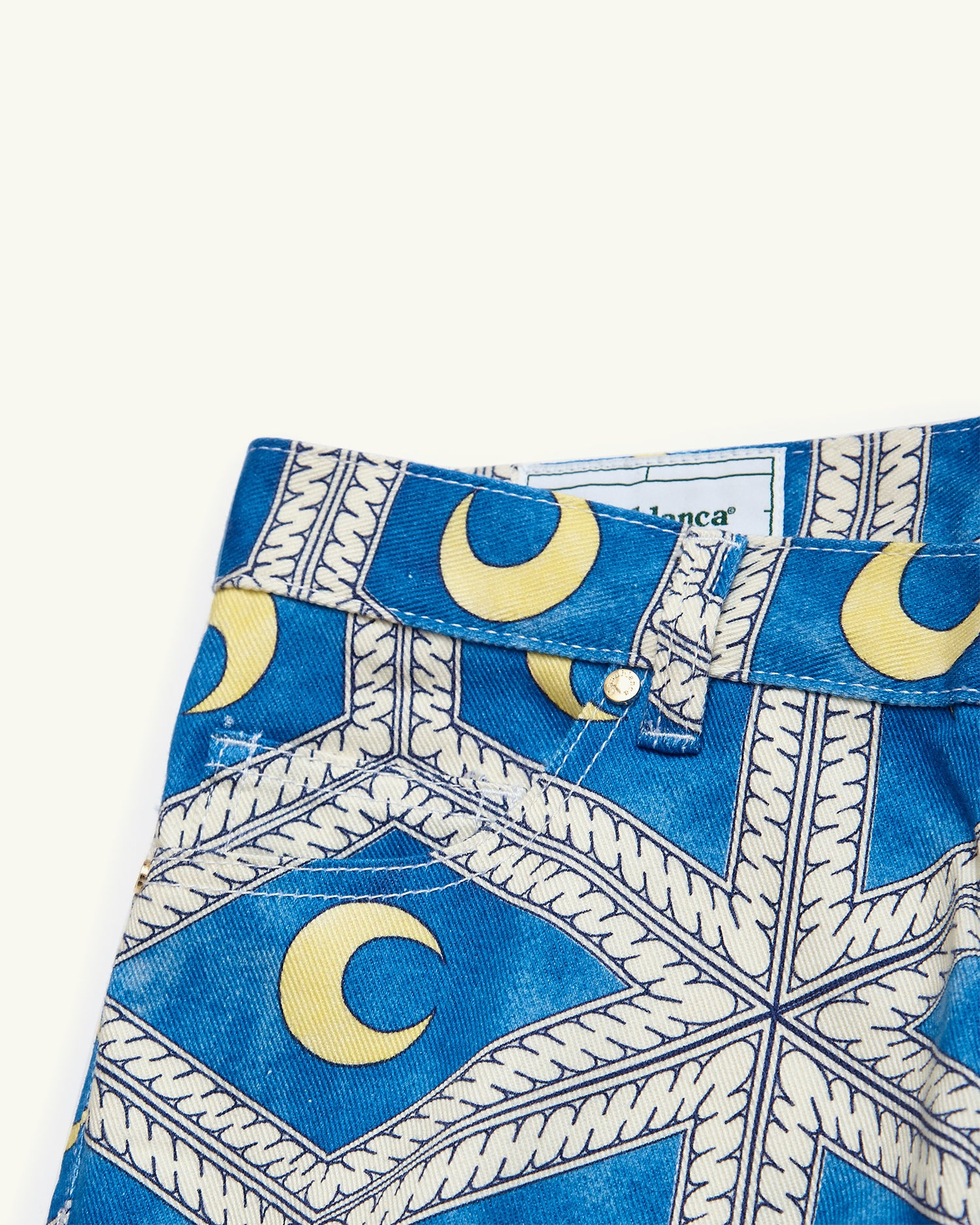 PRINTED DENIM JEANS MOONLIGHT TILES BLUE