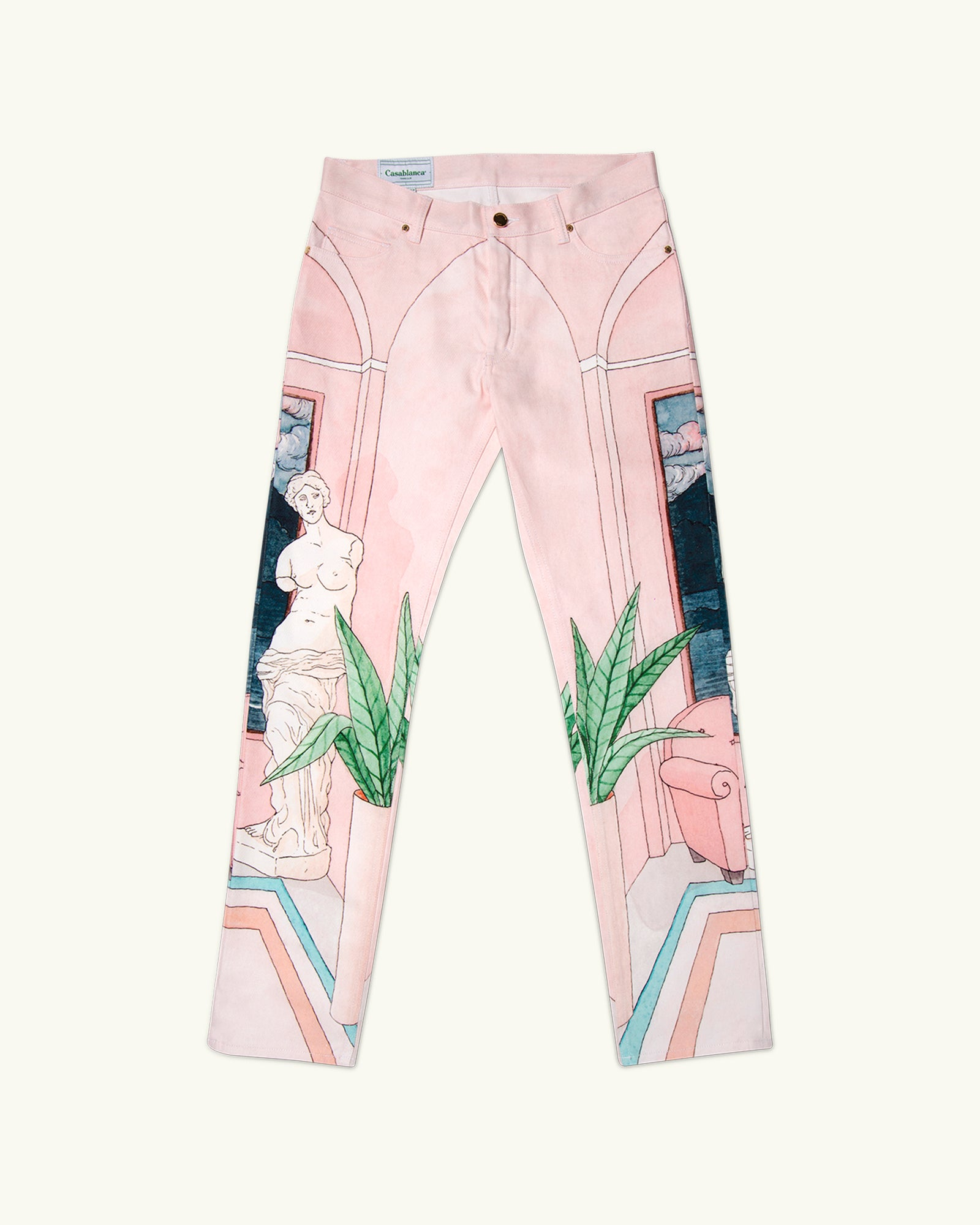 Chambre Printed Denim Jeans