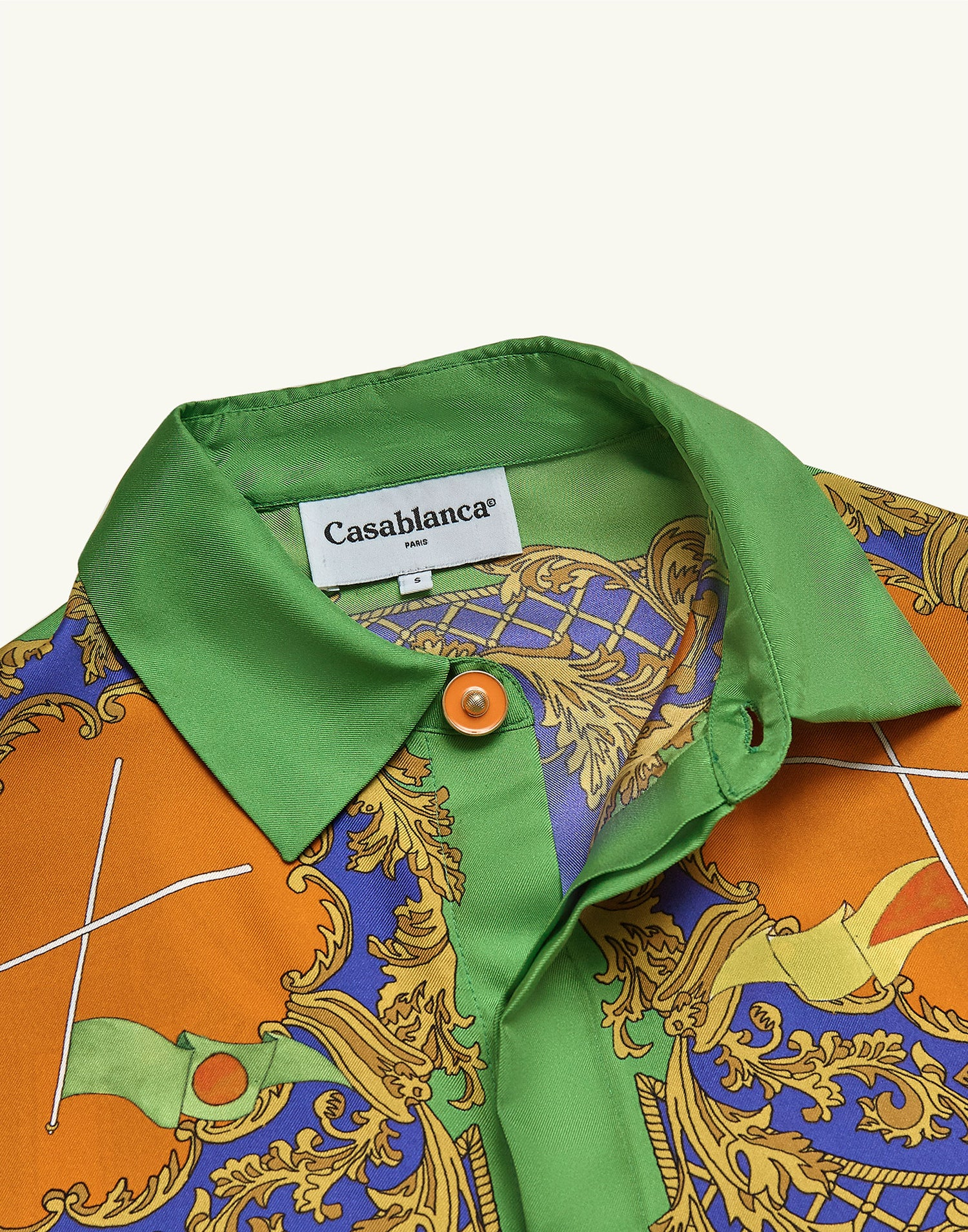 Casablanca Les Oranges shirt Green
