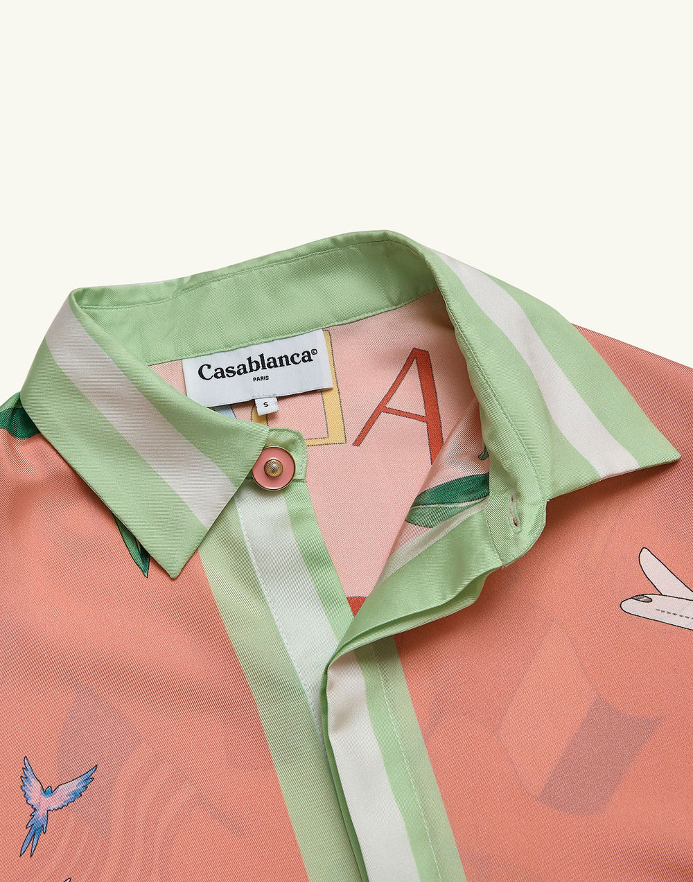 Casablanca Tennis Club Silk Shirt