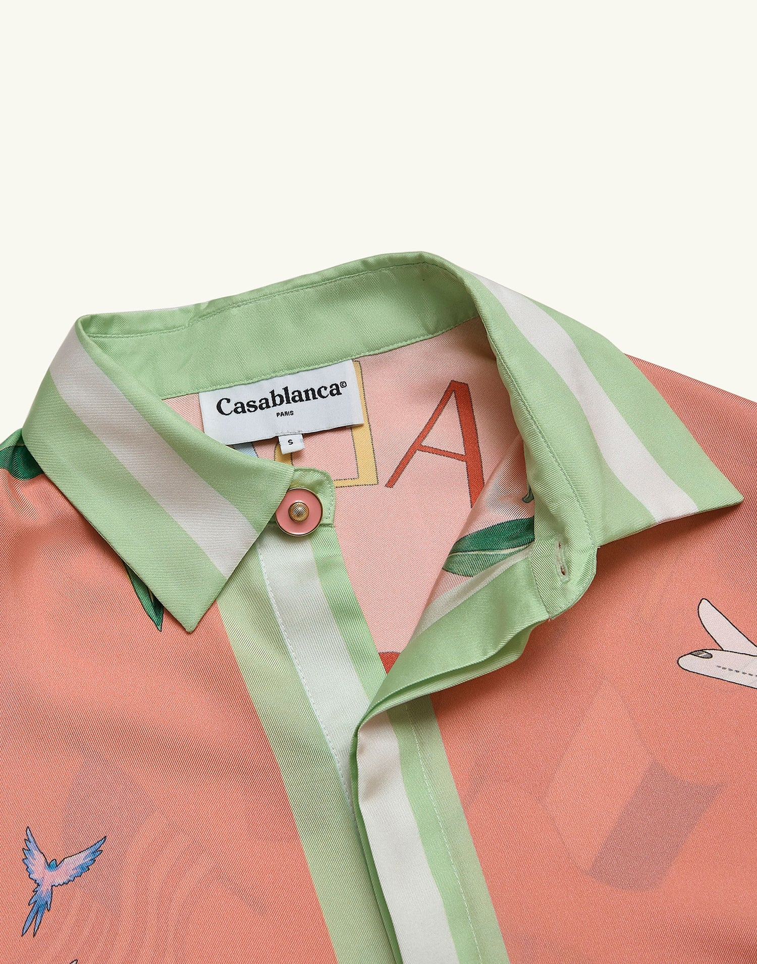 Casablanca Tennis club shirt Pink
