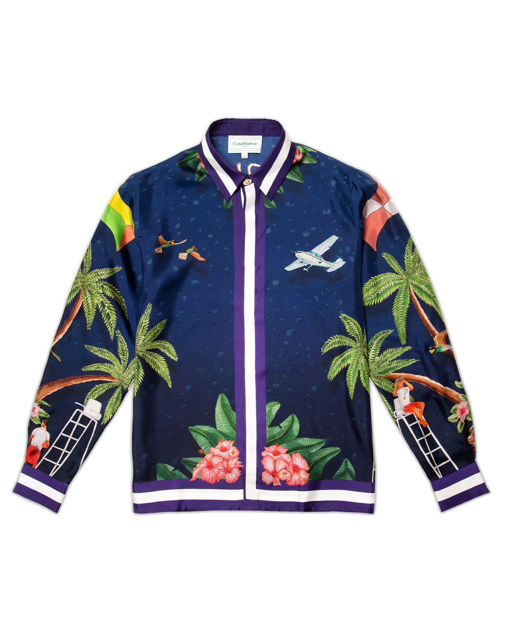 Casablanca Surf Club Midnight Silk Shirt