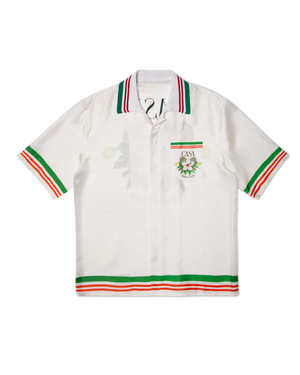 Casa Tennis Club Short Sleeve Silk Shirt