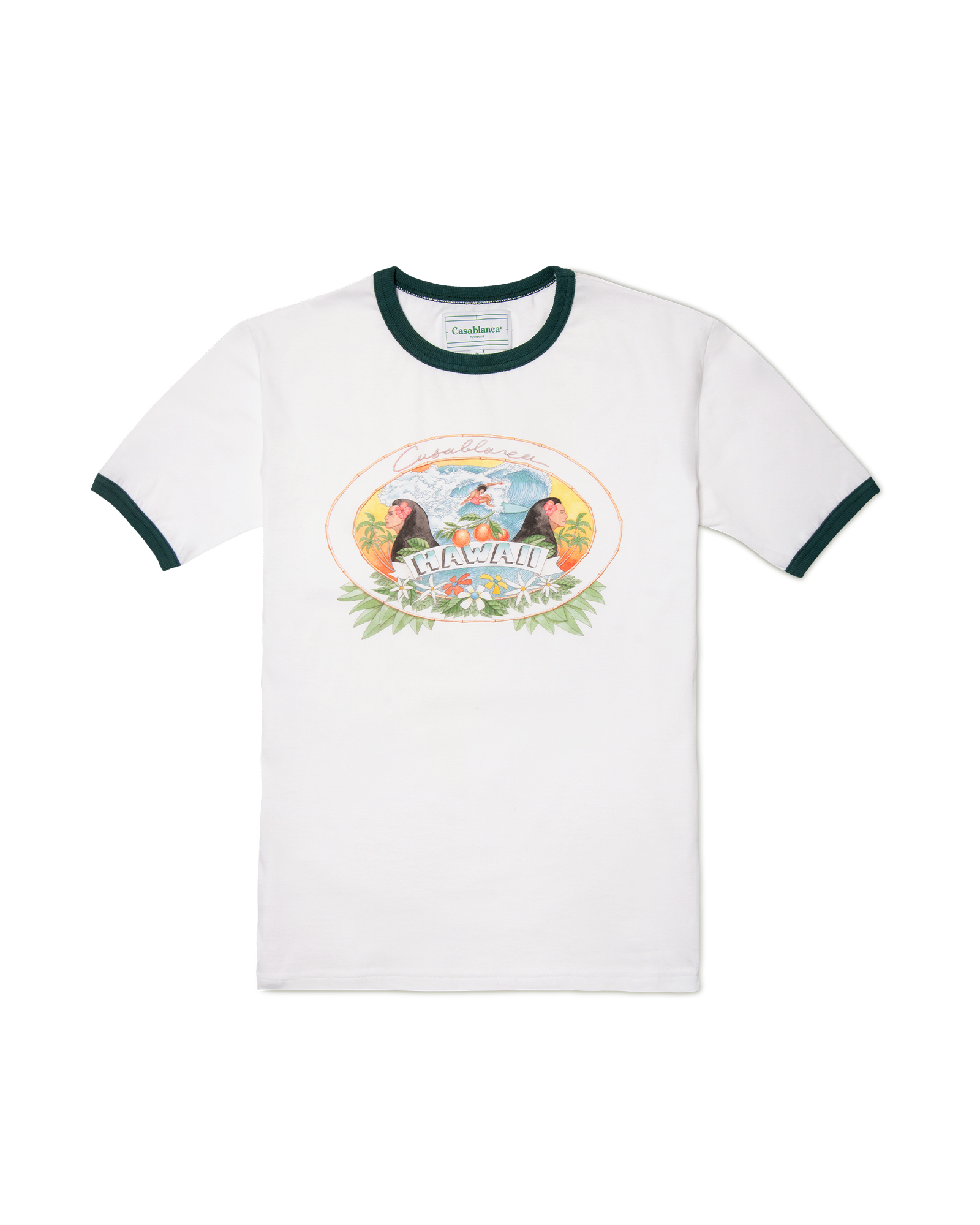 Hawaii Printed Ringer T-shirt