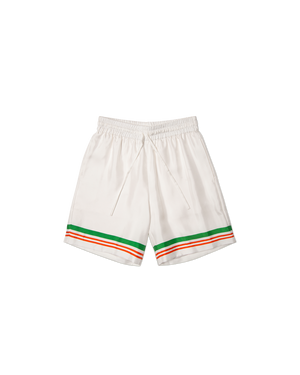 Casa Tennis Stripe Silk Shorts