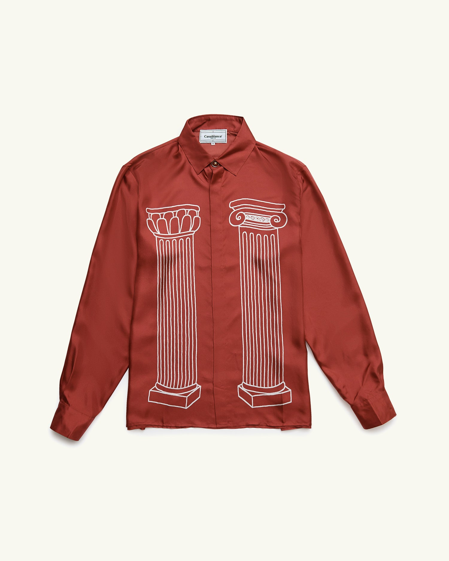 Sid Silk Shirt Burgundy