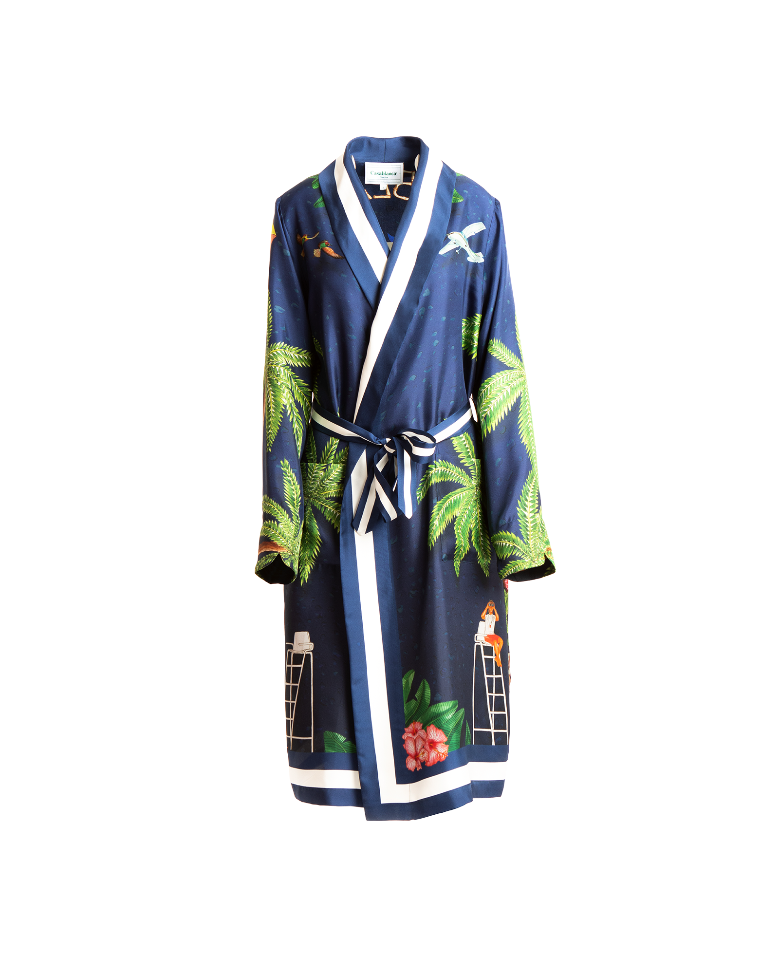 Casablanca Surf Club Midnight Silk Robe