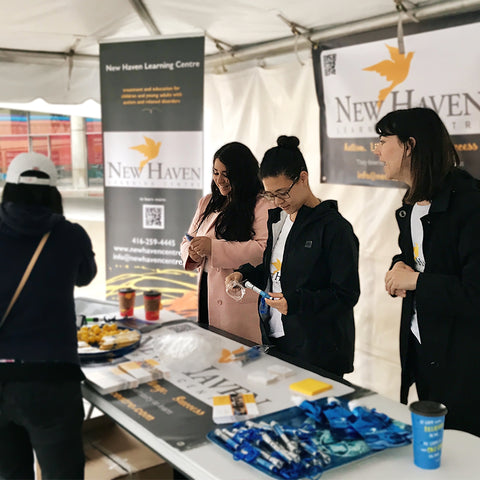 New Haven team members promoting the New Haven Learning Centre at an event
