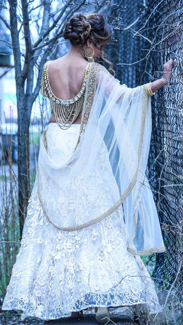 Backless Gold Chain Lehenga