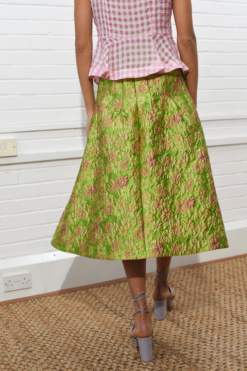 Sculpted Skirt Naive Jacquard