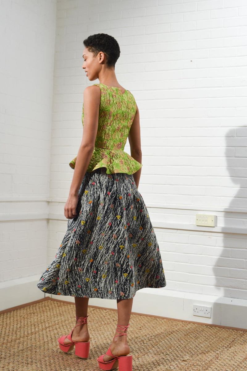 Sculpted Skirt Dynamic Jacquard