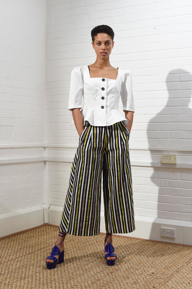 Relaxed Wide Leg Trousers
