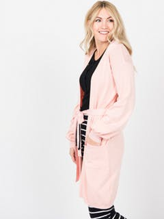 Blouson Sleeve Cardigan Medium Pink