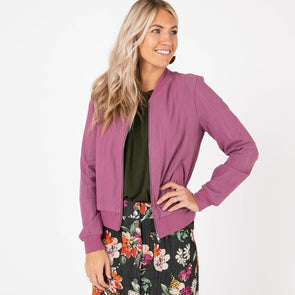 Bomber Jacket Medium Orchid