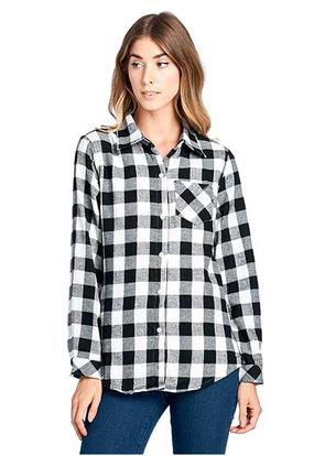 Women's Plaid Flannel Long Sleeve Shirts