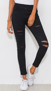 Distressed Skinny Jeans - Petite Fit