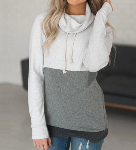 Scarf Collar Pullover