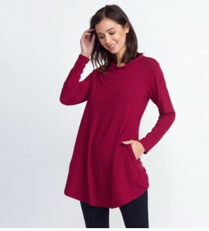 Hoodie Tunic with Pockets