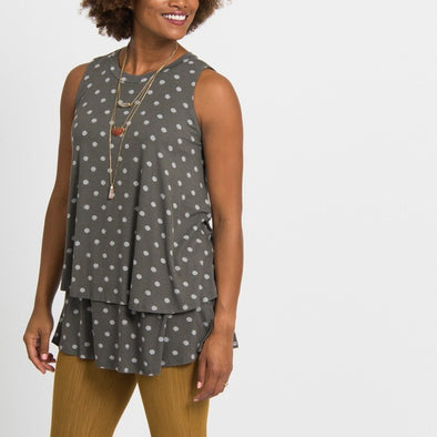 Tiered Tunic XXXL Dot