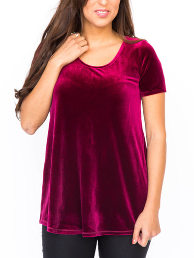 Velvet Everyday Tee XXL Red