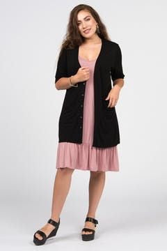 Welt Pocket Cardigan XS Black