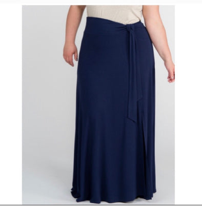 Wrap Maxi Skirt Medium Navy