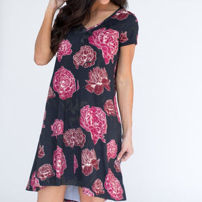 Vneck Hi Lo Dress XXS Floral