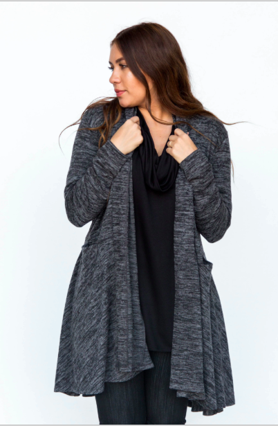 Cascade Cardigan Large Black
