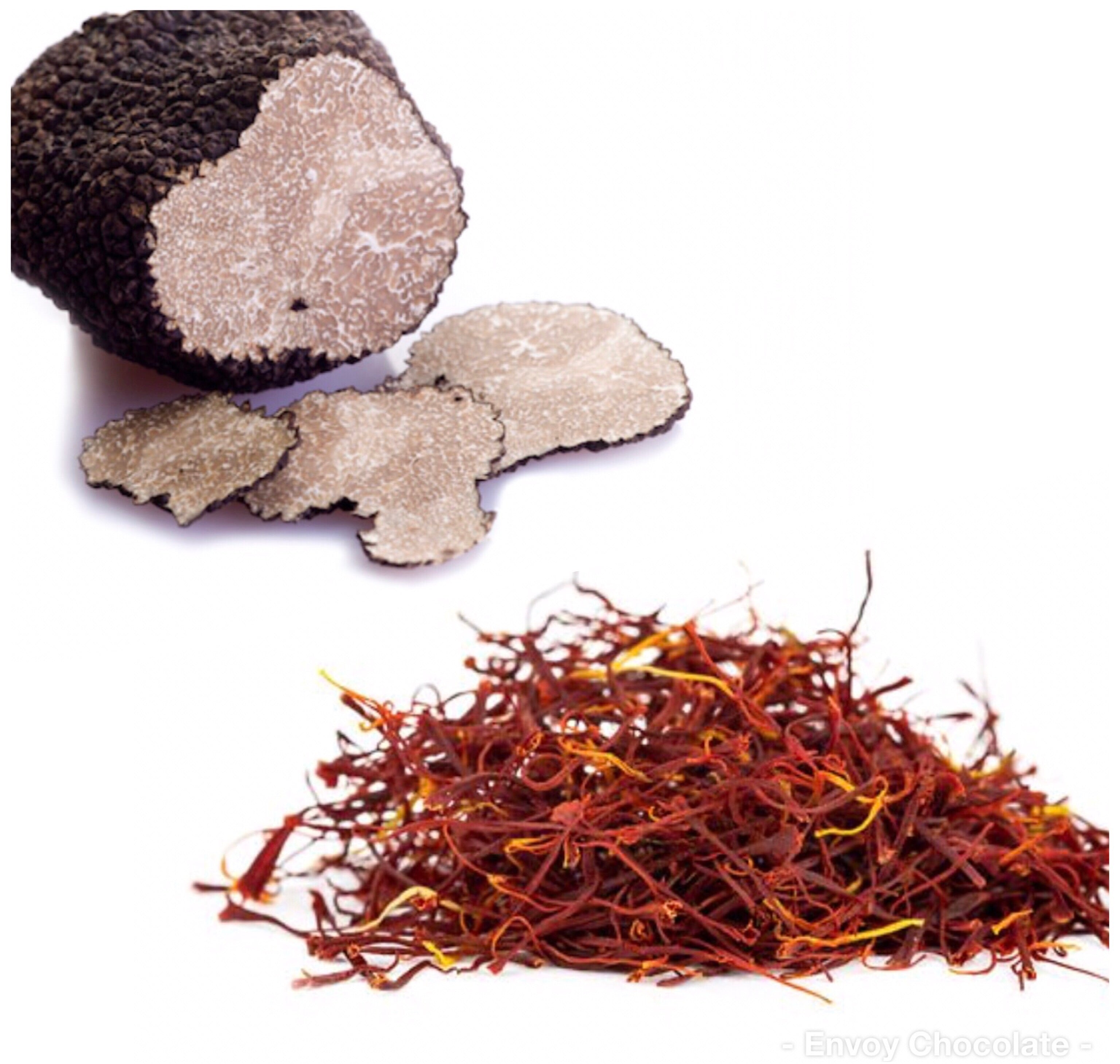 Limited Edition Saffron vs Black Truffles (10 pieces box)