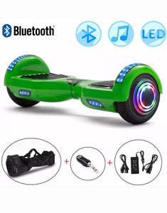 Green Smart Hoverboard + Bluetooth + Remote + Flashing L.E.D Lights + L.E.D Wheels