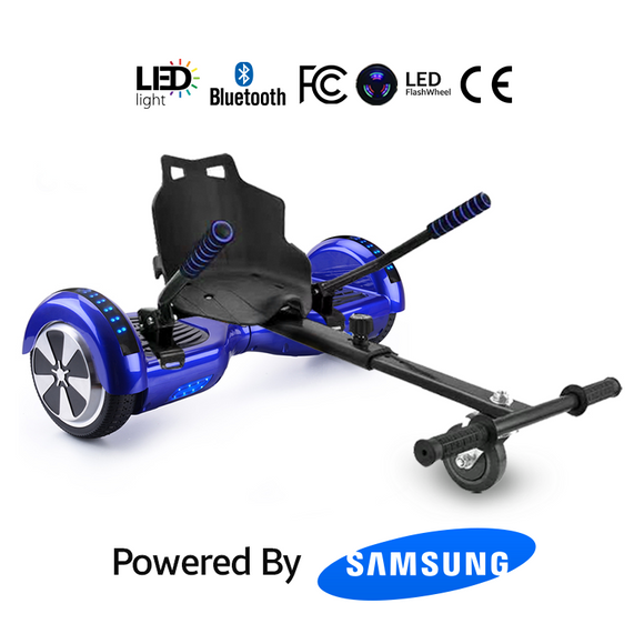 Blue Hoverboard package with hoverkart