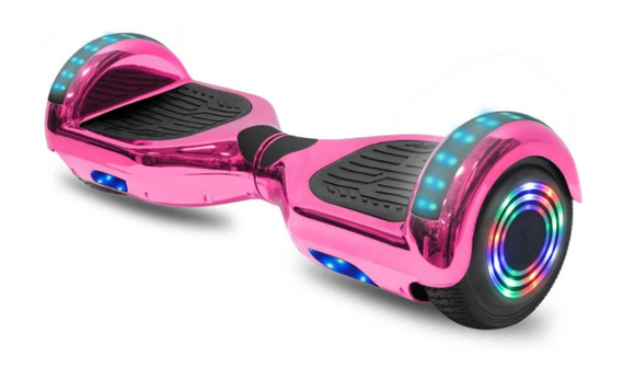 Pink Chrome Style Electric Hoverboard