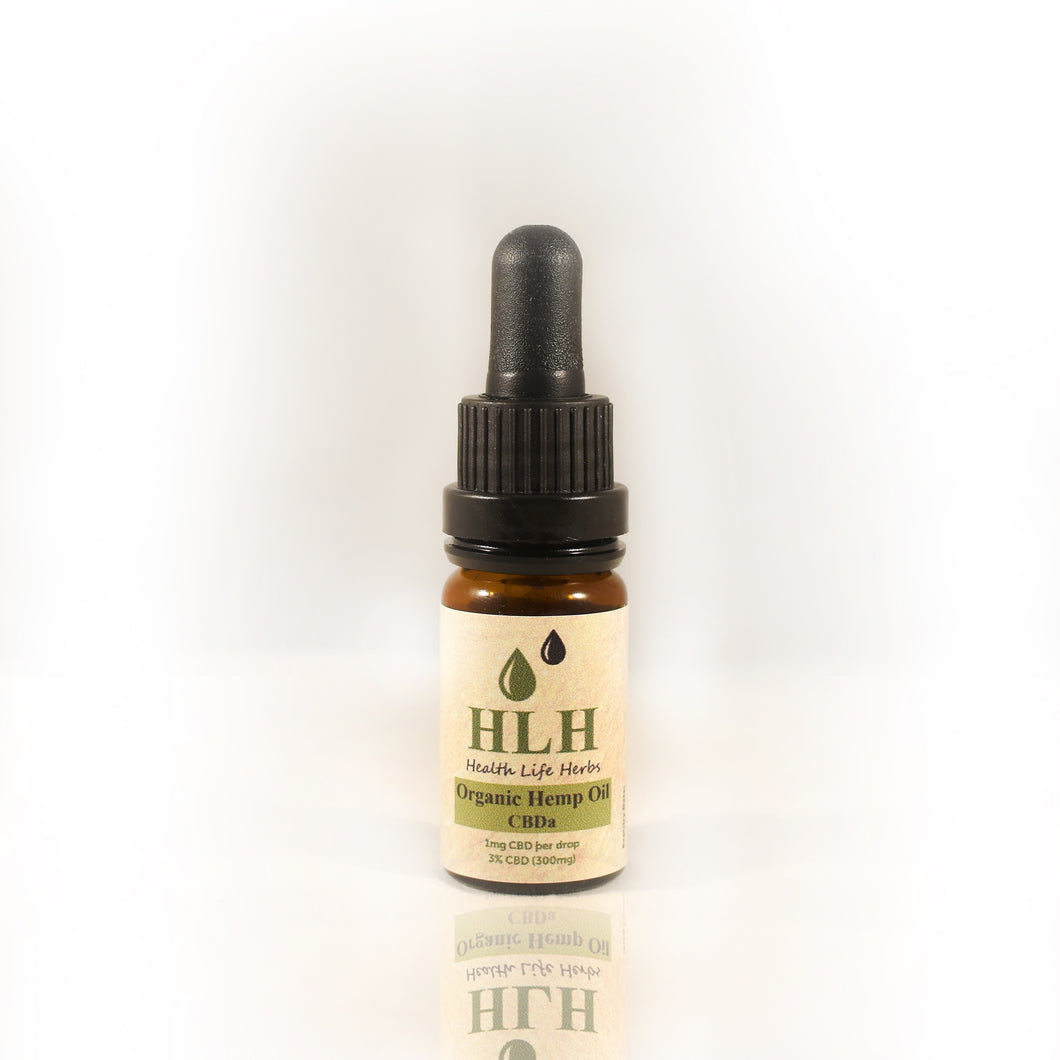 Organic Raw CBD Oil drops, 300mg