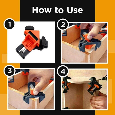 Woodworking Clamps Set (4 pcs)
