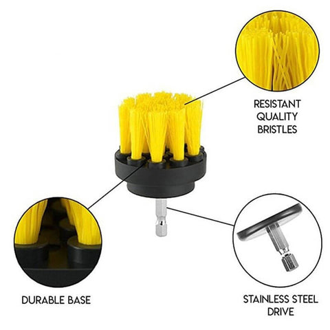 Ultimate Power Scrubber Drill Brush Set (3 pcs)