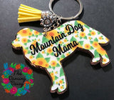 Bernese Mountain Dog Acrylic Key Chain