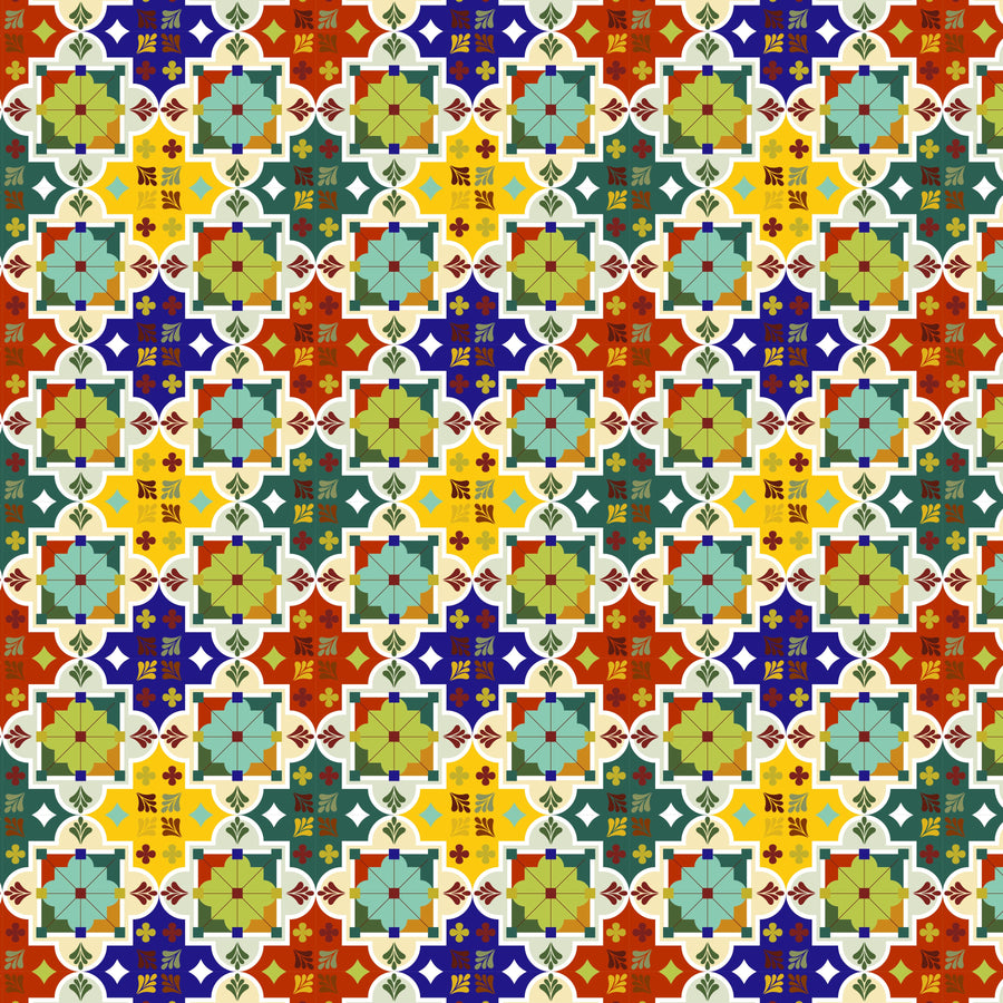 Colorful Moroccan Vinyl pattern