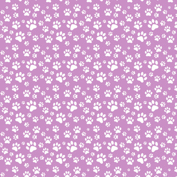 Dog Paw Prints Vinyl Lilac White small print