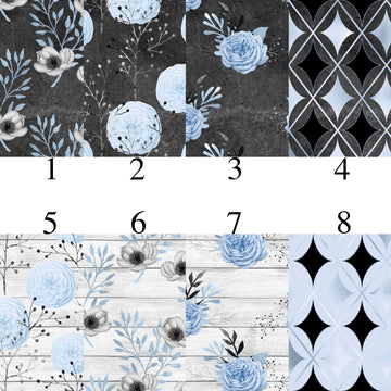 Blue Charcoal Patterns Adhesive Vinyl
